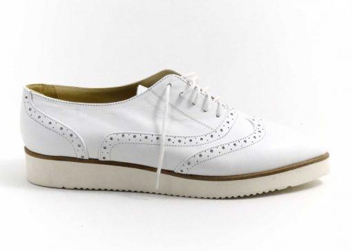 Pantofi din piele naturala Snow Withe