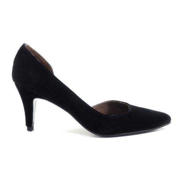 Pantofi din piele intoarsa neagra