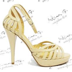 Sandale de mireasa din piele naturala Stylish
