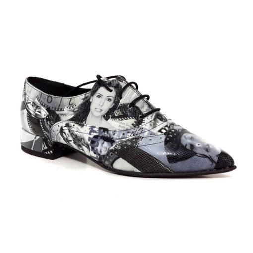 Pantofi dama cu siret  London Style
