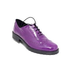Pantofi dama cu siret din piele Oxford Heavy