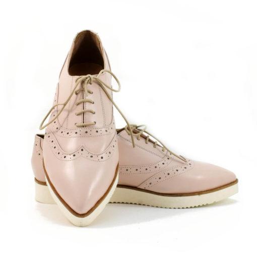 Pantof din piele naturala bej