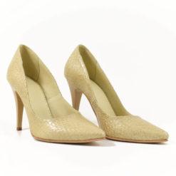 Pantofi stiletto Vera print lacuit