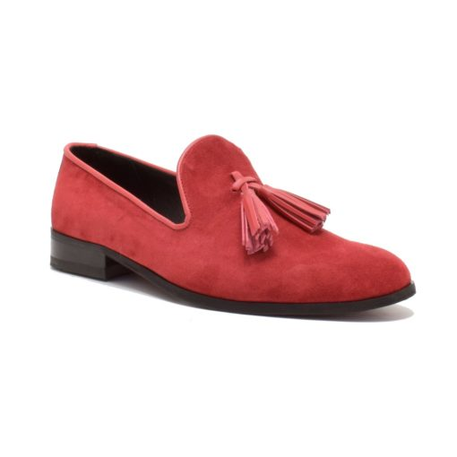 Pantofi pentru barbati din piele intoarsa rosie Samuel