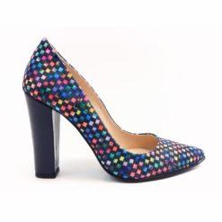 Pantofi din piele multicolora Sophie X