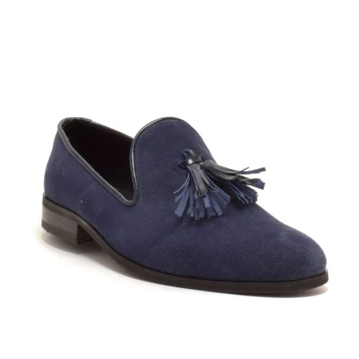 Pantofi pentru barbati din piele intoarsa bleumarin Samuel