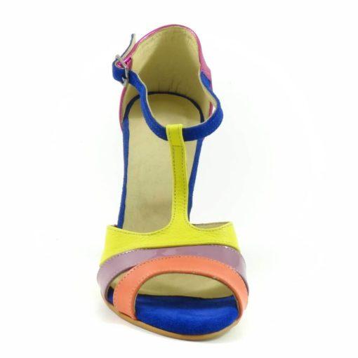 Sandale colorate din piele naturala Chic 3