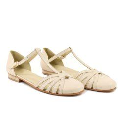 Sandale din piele naturala ivoire Mirela