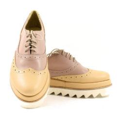 Pantofi din piele naturala Misty Nude