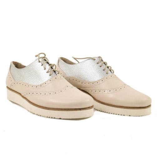 Pantofi casual din piele naturala Bon Times Silver