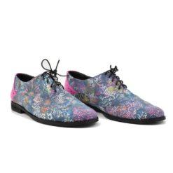 Pantofi din piele naturala Carmel Multicolor