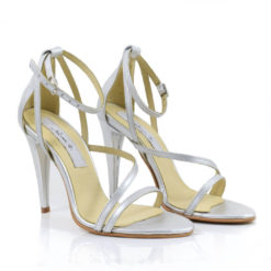 e24cb4bd5a Sandale de mireasa din piele Silver Ellite