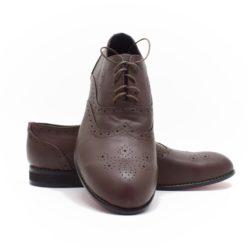 Pantofi barbati din piele maro Alegro