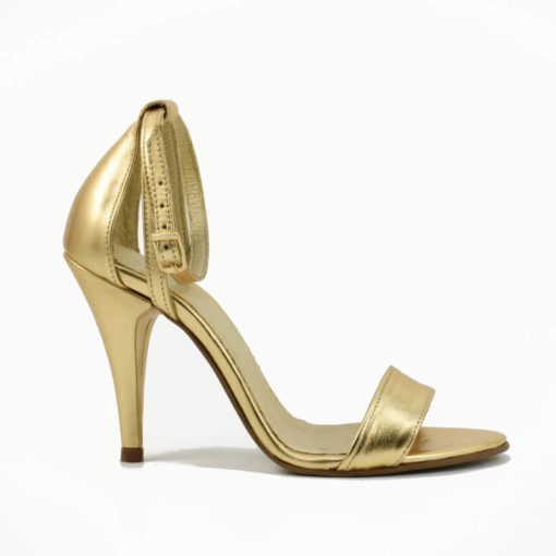 Sandale din piele auriue