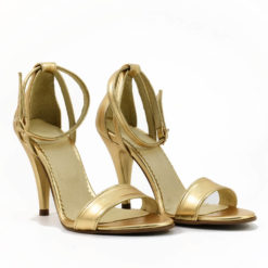 Sandale din piele aurie Andreea 4
