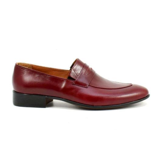 Pantofi barbatesti din piele naturala Bordo