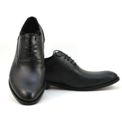 Pantofi barbatesti din piele naturala neagra Jonny