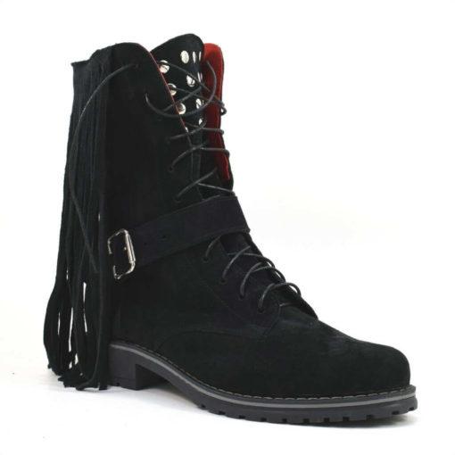 Ghete din piele naturala intoarsa Beaty Boots