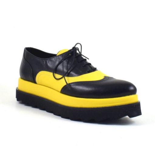 Pantofi din piele naturala cu talpa dubla MistyFy (1905)