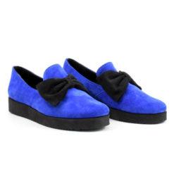 Pantofi Albastri cu funda Neagra Iris 2 (1909)