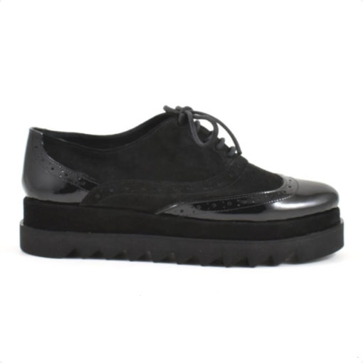 Pantofi casual dama Misty din piele neagra  (1935)