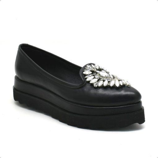Pantofi loafers casual din piele neagra Diamond (1927)