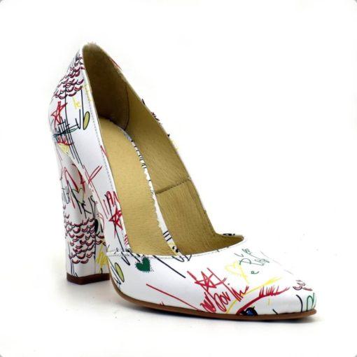 Pantofi cu toc gros Painture Fashion