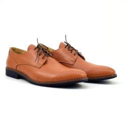 Pantofi barbatesti din piele naturala maro