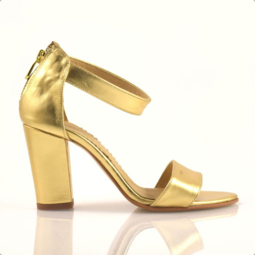 Sandale aurii piele naturala Andromeda