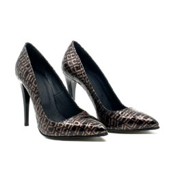 Pantofi stiletto piele naturala Larra Croco 1