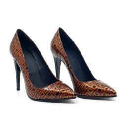 pantofi piele naturala cu toc stiletto inalt de 11 cm