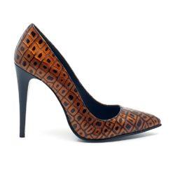Pantofi din piele naturala cu toc stiletto inalt de 11 cm